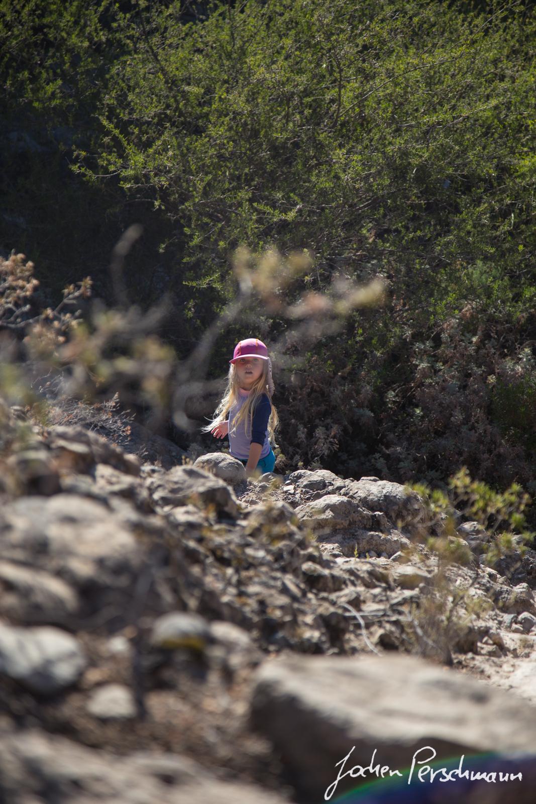 Der Weg runter in den Ortiz Canyon